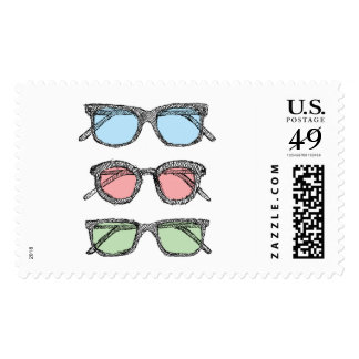 Three Glasses Sketch Postage