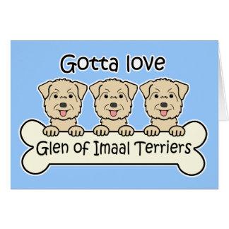 Three Glen of Imaal Terriers Card