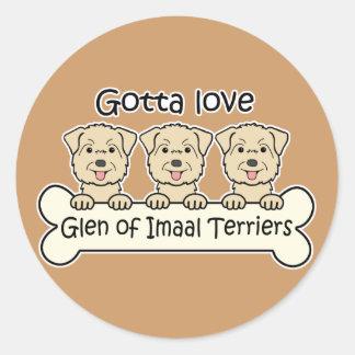 Three Glen of Imaal Terriers Stickers