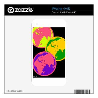 Three Globes Abstract Pop Art Illustration iPhone 4S Skins