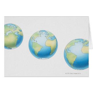 Three Globes Card
