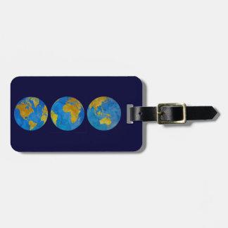 Three Globes Travel Bag Tags