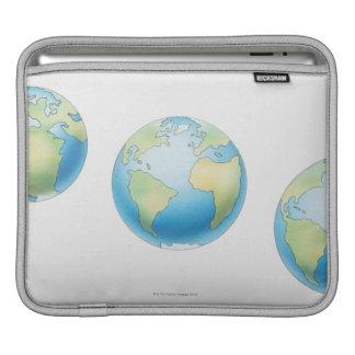 Three Globes Sleeve For iPads