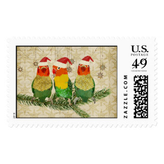Three Golden Birds Christmas Stamp