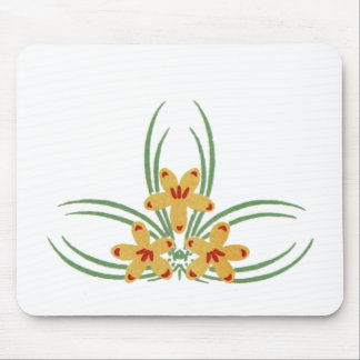 Three Golden Flowers Mouse Pad
