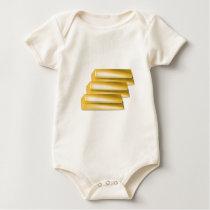 three-golden-gold bars.jpg baby bodysuit