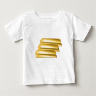 three-golden-gold bars.jpg baby T-Shirt