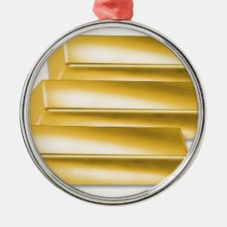 three-golden-gold bars.jpg metal ornament
