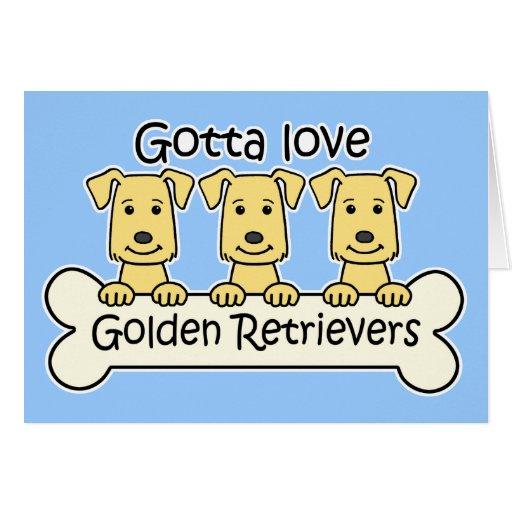 Three Golden Retrievers Greeting Cards