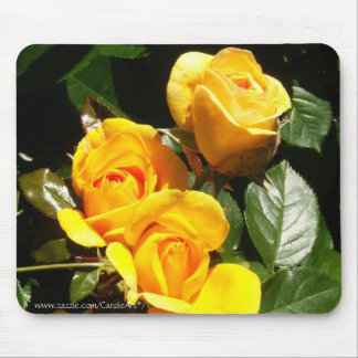 Three Golden Roses Mouse Pad