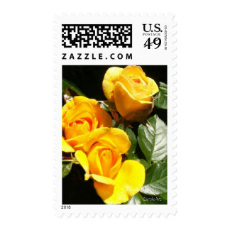 Three Golden Roses Stamp