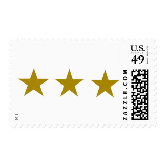 Three Golden Stars Stamp