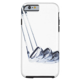 Three golf clubs on white background tough iPhone 6 case