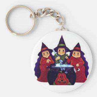 Three Good Witches Keychain