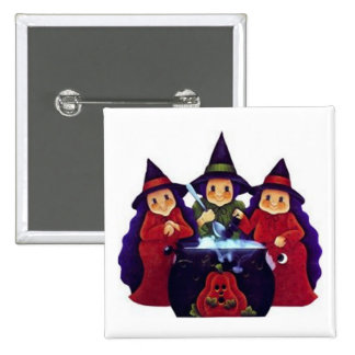Three Good Witches Pinback Button