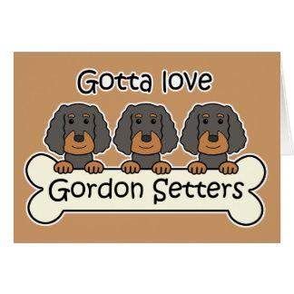 Three Gordon Setters Card