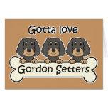 Three Gordon Setters Stationery Note Card