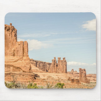 Three Gossips, Sheep Rock in Arches National Park Mouse Pad