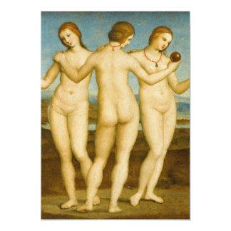 Three Graces Renaissance Painting Card