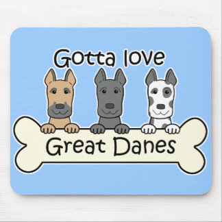 Three Great Danes Mouse Pad