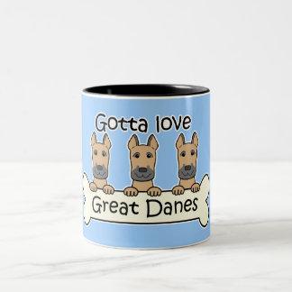 Three Great Danes Two-Tone Coffee Mug