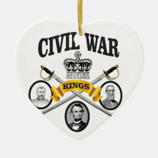 three great leaders of Civil war Ceramic Ornament