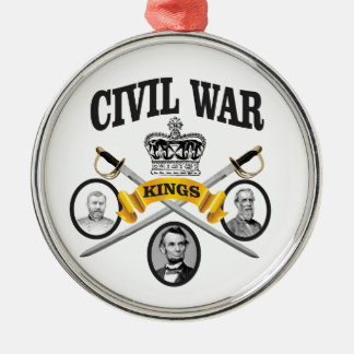 three great leaders of Civil war Metal Ornament