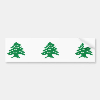 THREE Green Lebanon Cedar Tree Bumper Sticker