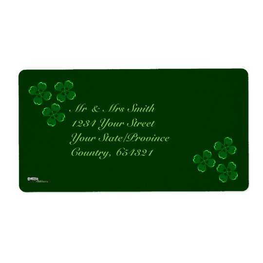 Three Green Shamrocks Label