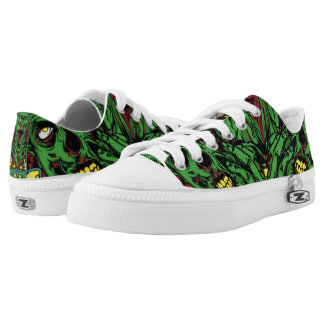 Three Green Zombies Printed Shoes