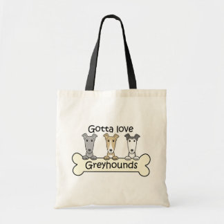 Three Greyhounds Tote Bags