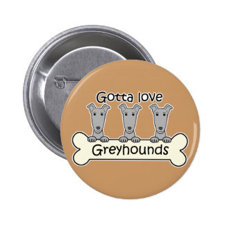 Three Greyhounds Button