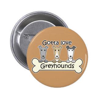 Three Greyhounds Pinback Buttons