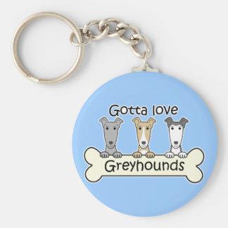 Three Greyhounds Keychain