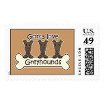 Three Greyhounds Stamp