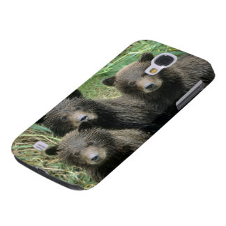 Three Grizzly Bear Cubs or Coys Cub of the Samsung Galaxy S4 Cases