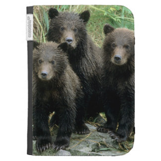 Three Grizzly Bear Cubs or Coys Cub of the Kindle Keyboard Cases