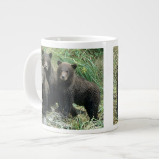 Three Grizzly Bear Cubs or Coys (Cub of the Large Coffee Mug