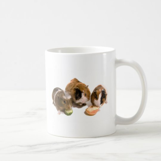 three guinea pigs who eat, coffee mug