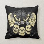 Three Guitars and Skulls Pillow Pillow
