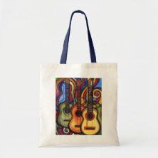 Three Guitars Canvas Bags