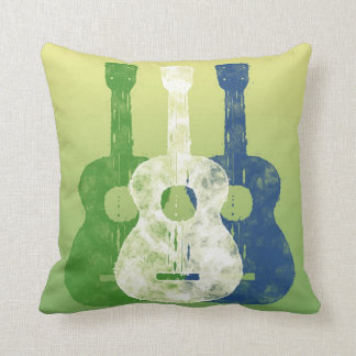 Three Guitars Throw Pillow