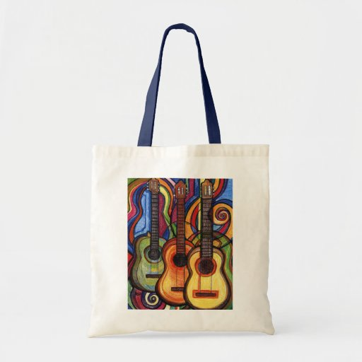 Three Guitars Budget Tote Bag
