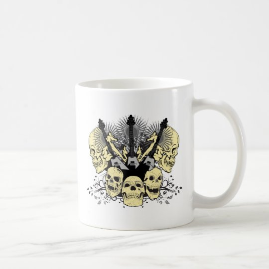 Three Guitars with Skulls Coffee Mug