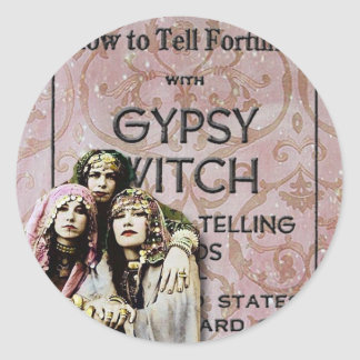Three Gypsies, altered art Classic Round Sticker
