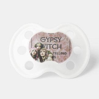 Three Gypsies, altered art Pacifiers