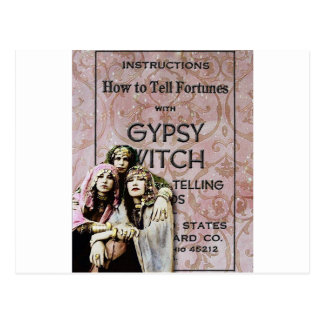 Three Gypsies, altered art Postcard