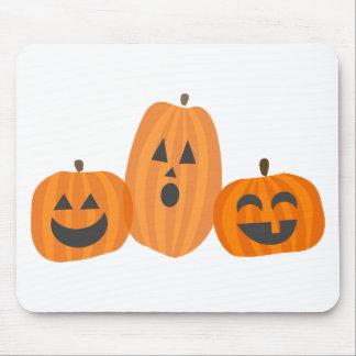 Three Halloween Pumpkins Mouse Pad