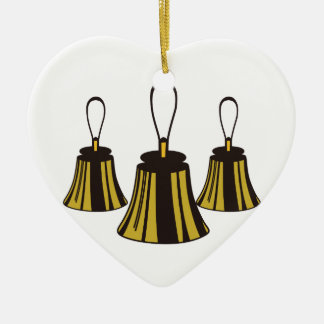 Three Handbells Ceramic Ornament