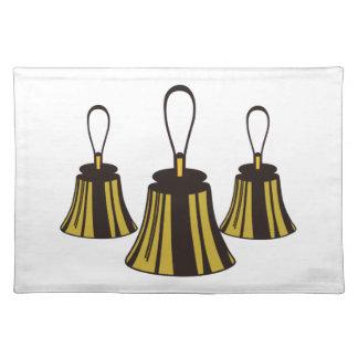 Three Handbells Cloth Placemat